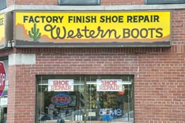 Factory Finish Shoe Repair storefront